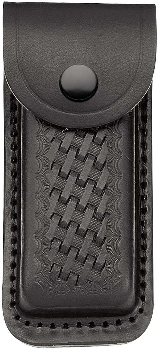 Lederetui, schwarz, für Heftlänge 13 cm,