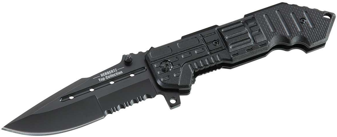 Einhandmesser, Stahl 440, schwarz