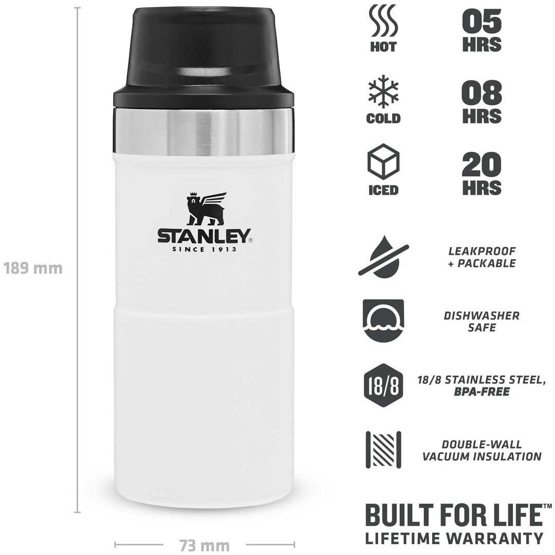 Classic Trigger Action Travel Mug 354 ml - Polar White