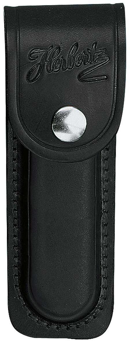 Lederetui, schwarz, für Heftlänge 13 cm