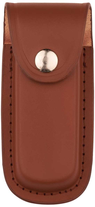 Messer-Etui, braunes Leder, eingeschnittene Gürtelschlaufe,