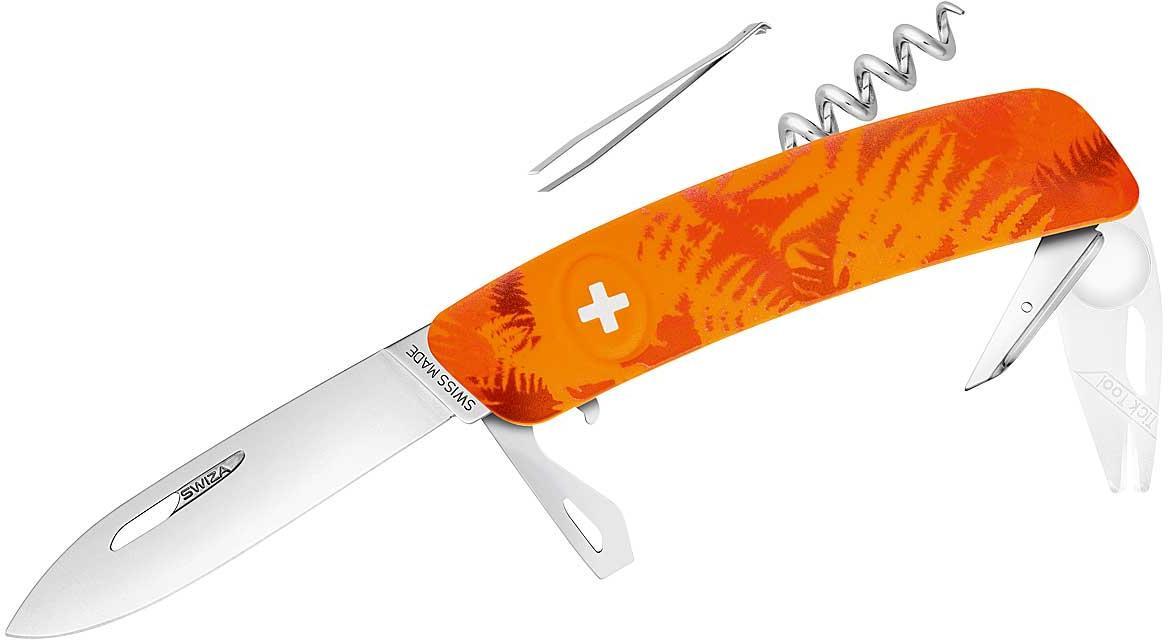 Taschenmesser TT03 TICK TOOL - FILIX Farn Orange