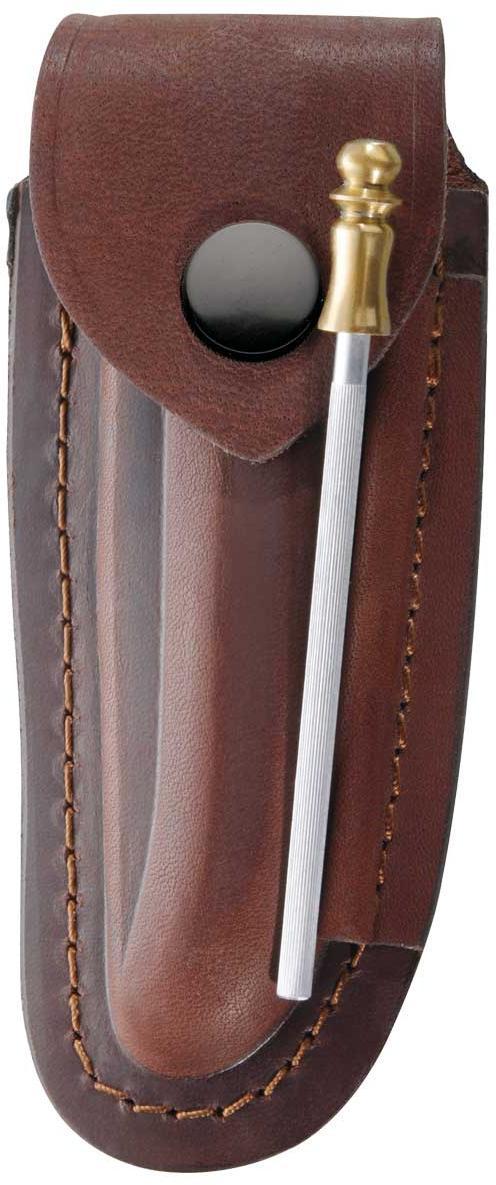 Braunes Leder-Etui, für LaguioleMesser mit 12 cm Heftlänge