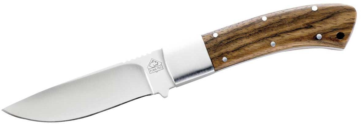 Gürtelmesser, AISI 420, Zebrawood, Lederscheide