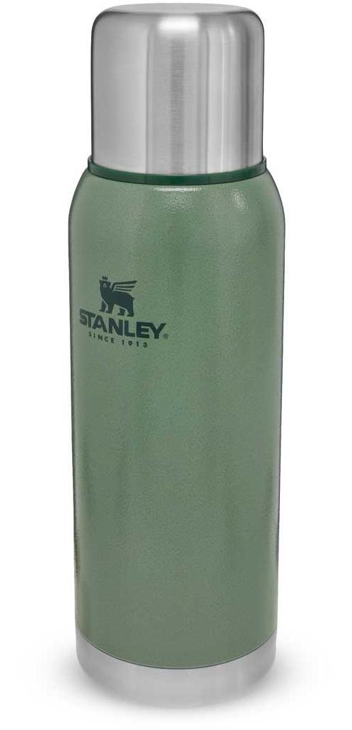 Adventure Stainless Steel Vacuum Bottle 1 Liter - Hammertone Green