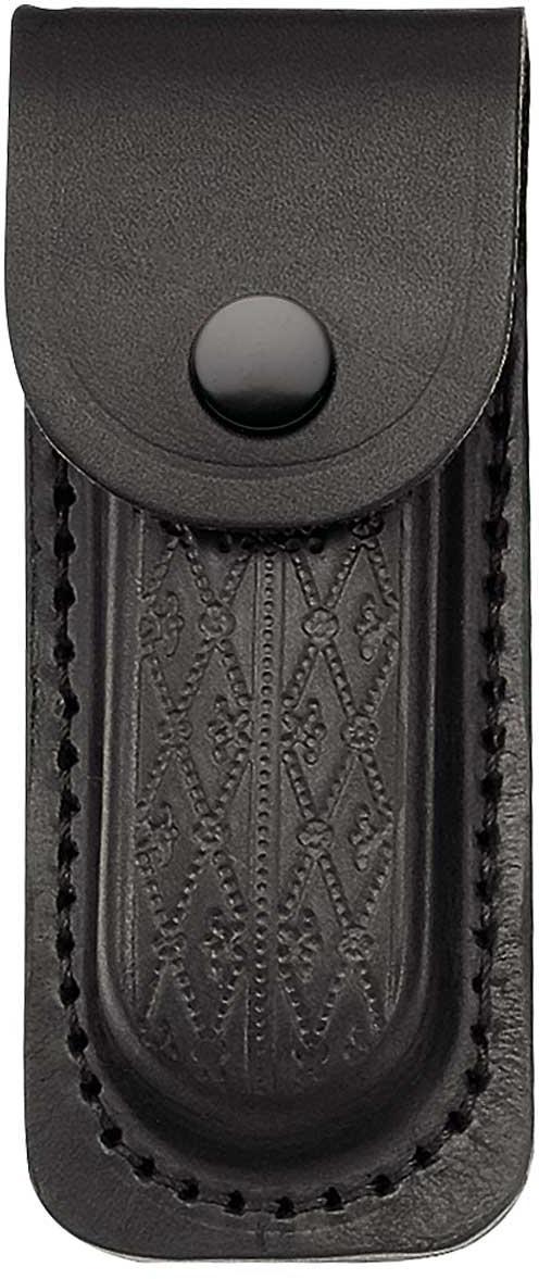 Lederetui, schwarz, für Heftlänge 11 cm,